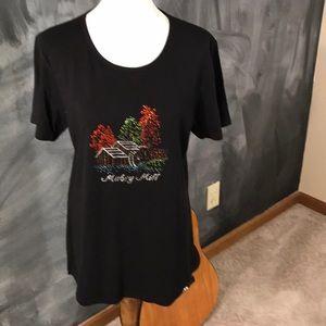 Tops - Black T shirt with sparkle design